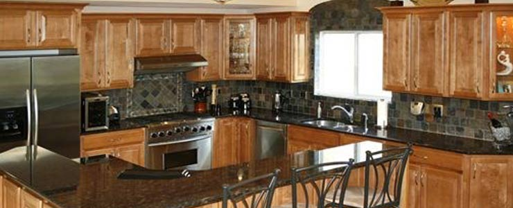 beautiful kitchen with backsplash tile