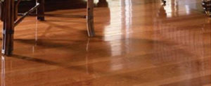 Shiny hardwood flooring