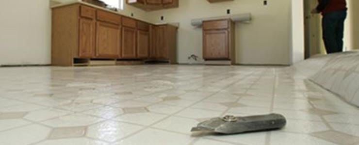 Installation of vinyl flooring