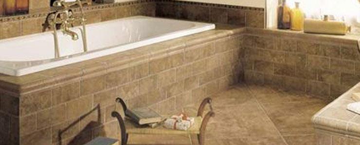 Beautiful stone tiles add elegance